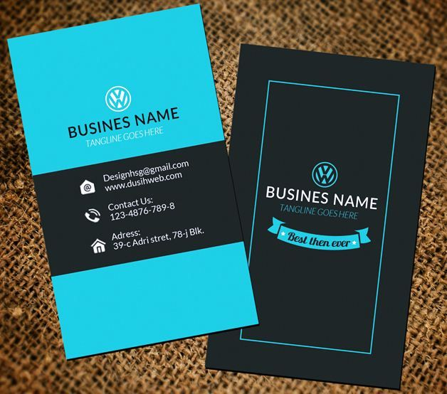 Vertical business card template and design emetonlineblog vertical business card design free pronofoot35fo Choice Image