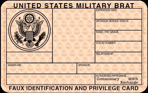 Free Blank Military ID Card Template – Blank Id Card Template