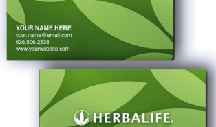 herbalife business card templates free