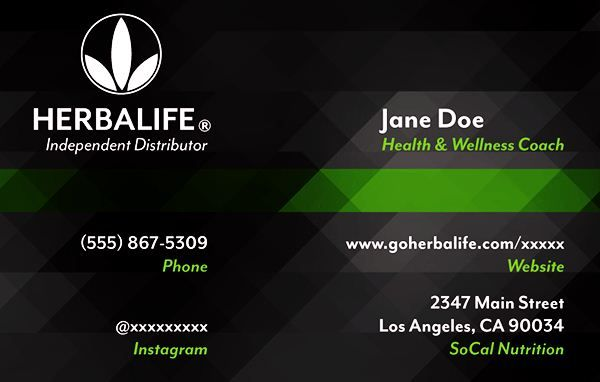 Herbalife Business Card Templates Emetonlineblog