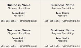 free open office business card template