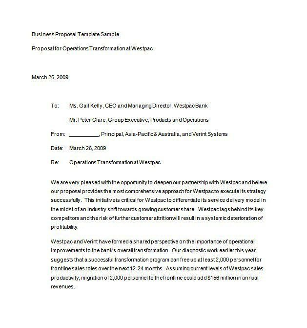 Free Business Proposal Template Microsoft Word – Free Business Proposal Templates