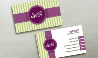 free scentsy business card template