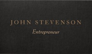 black linen business cards