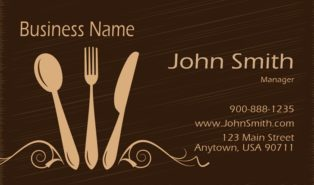 catering business cards templates free