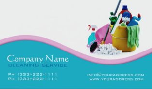 cleaning services business cards templates