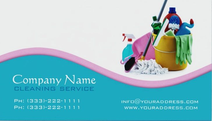 Cleaning Services Business Cards Templates EmetOnlineBlog