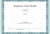 Free Printable Employee Of The Month Certificate Templates Idas