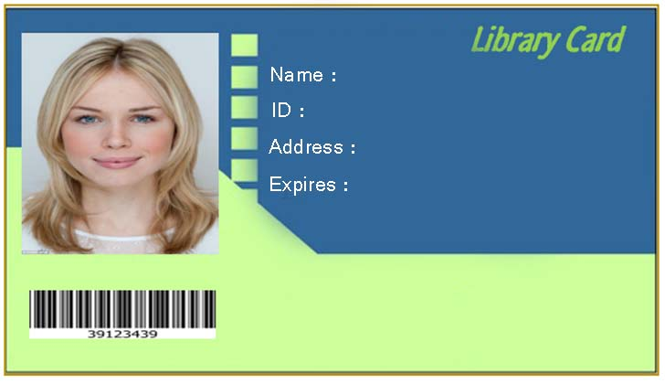 Free Blank Library Card Template