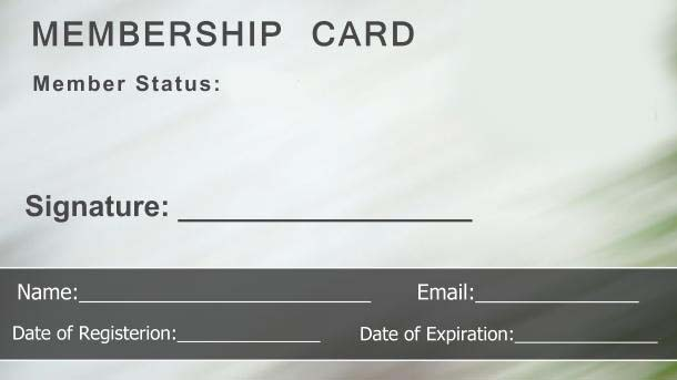 Lovely Free Membership Card Template On Membership Card Template