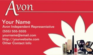 free printable avon business cards
