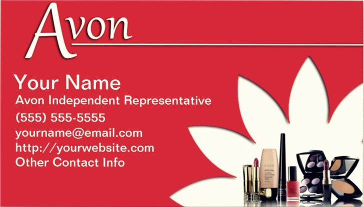 Free printable avon business cards emetonlineblog reheart Gallery