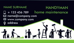 handyman business cards templates free