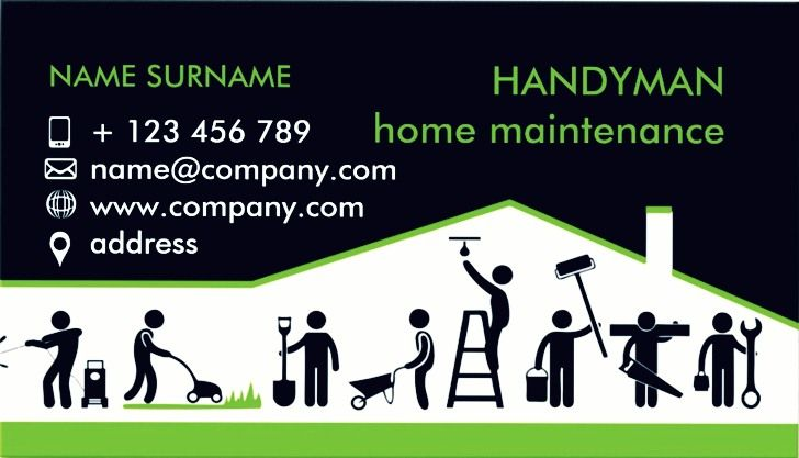 Handyman Business Cards Templates EmetOnlineBlog - Handyman business card template