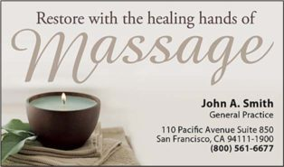 massage therapy business cards templates