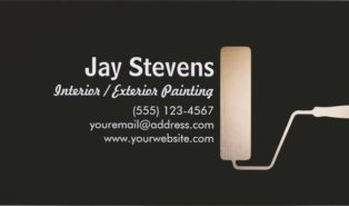 painting business cards ideas