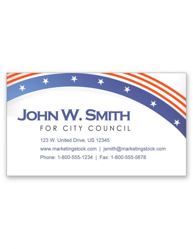 Political campaign business cards image emetonlineblog political campaign business cards image colourmoves