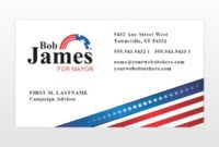political campaign business cards templates