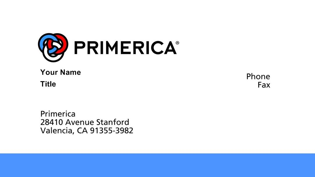 Template Of Primerica Business Cards EmetOnlineBlog - Primerica business card template