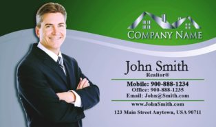 sample real estate agent business cards