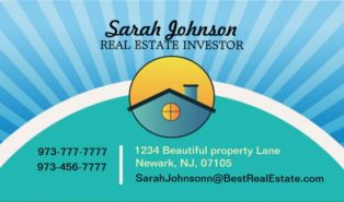 real estate investor business cards examples