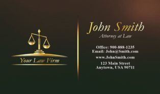 sample attorney business cards