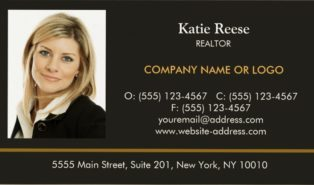 sample realtor business cards