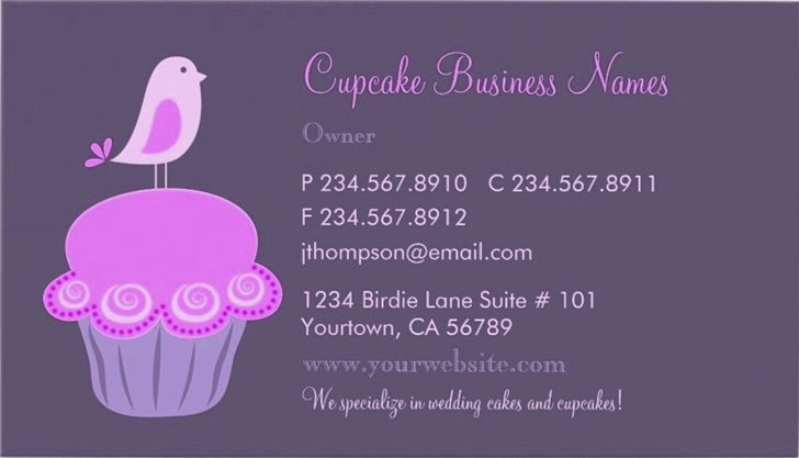 Cupcake Business Cards And Templates EmetOnlineBlog - Cupcake business card template
