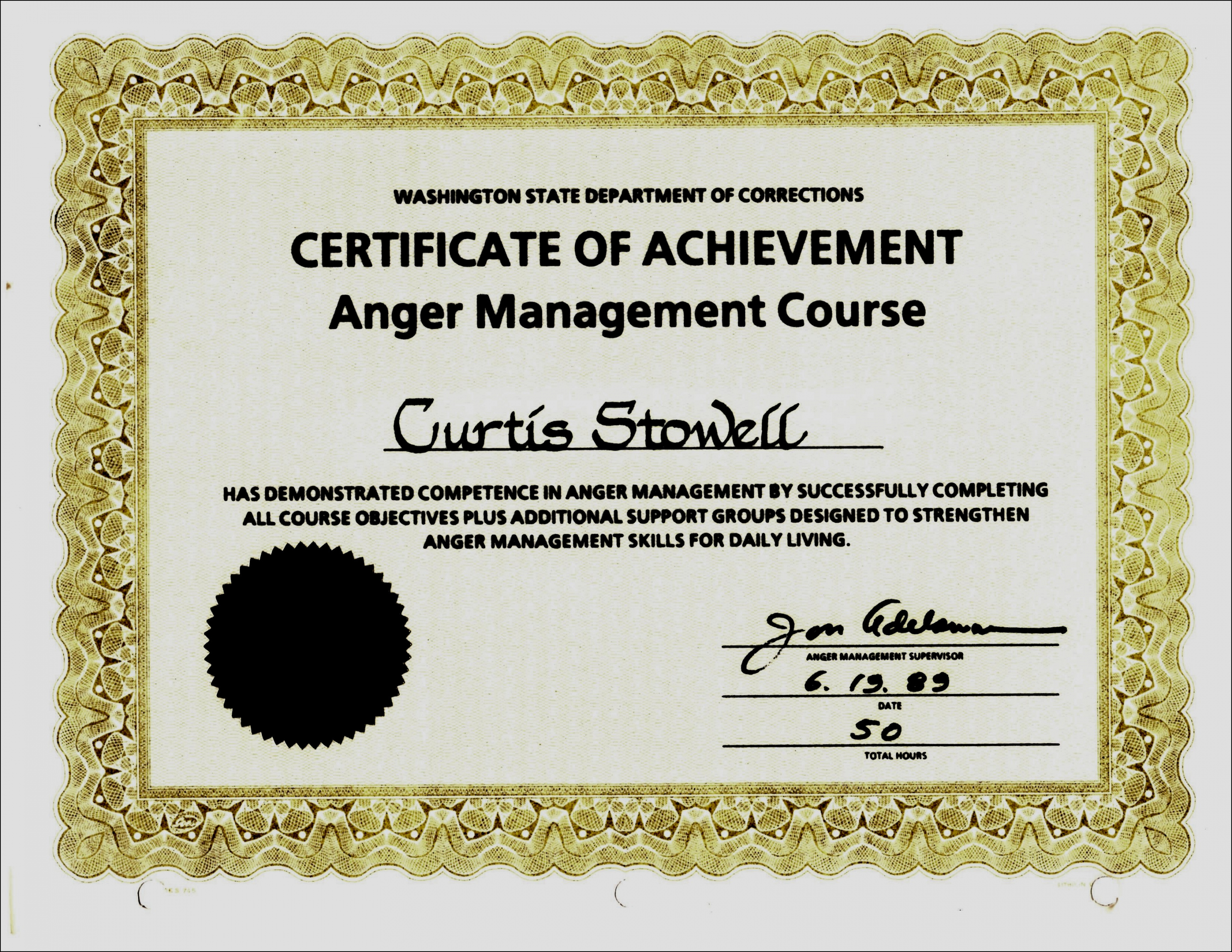 Declarative image pertaining to printable anger management certificate